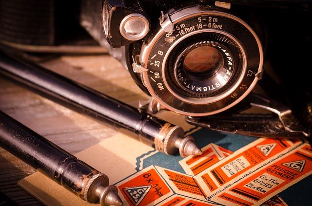 starý objektiv fotoaparátu