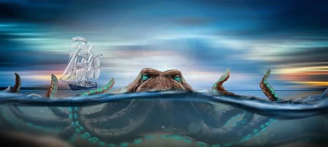 loď u chobotnice