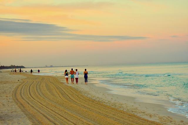 Běh po pláži
