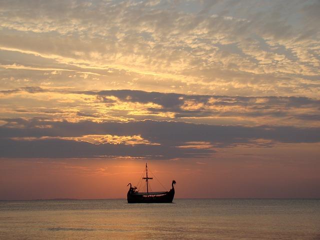 vikingové na moři