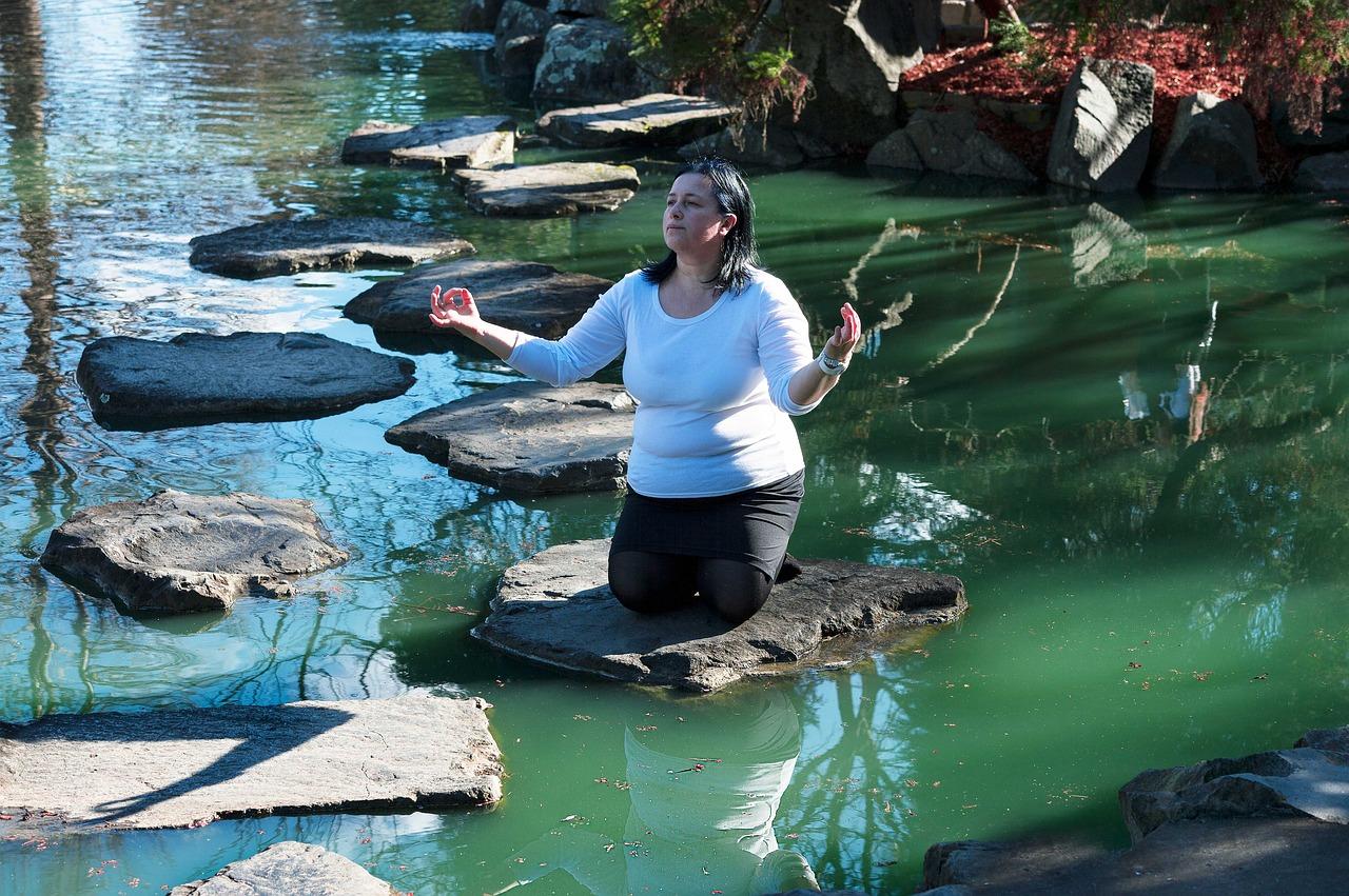 meditace na vodě